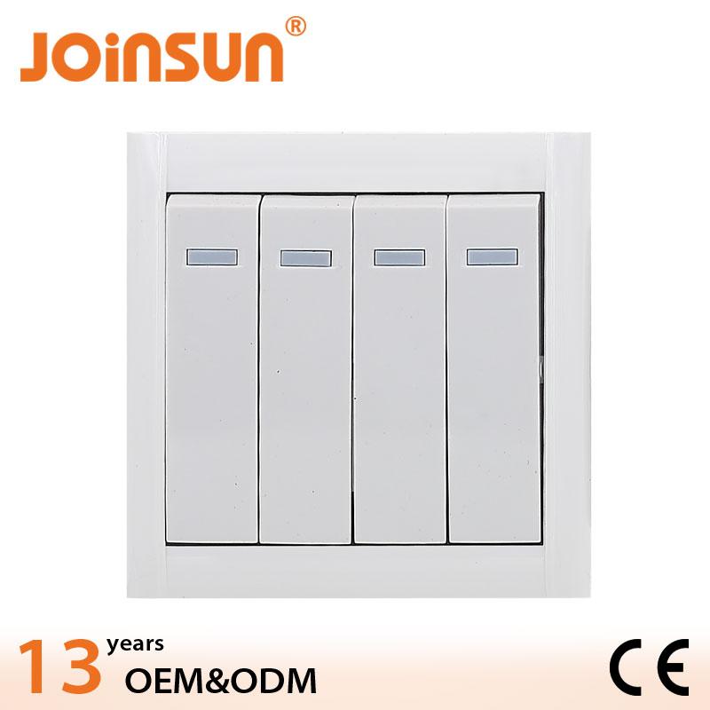 4 gang 1 yollu duvar aydınlatma elektronik anahtarı