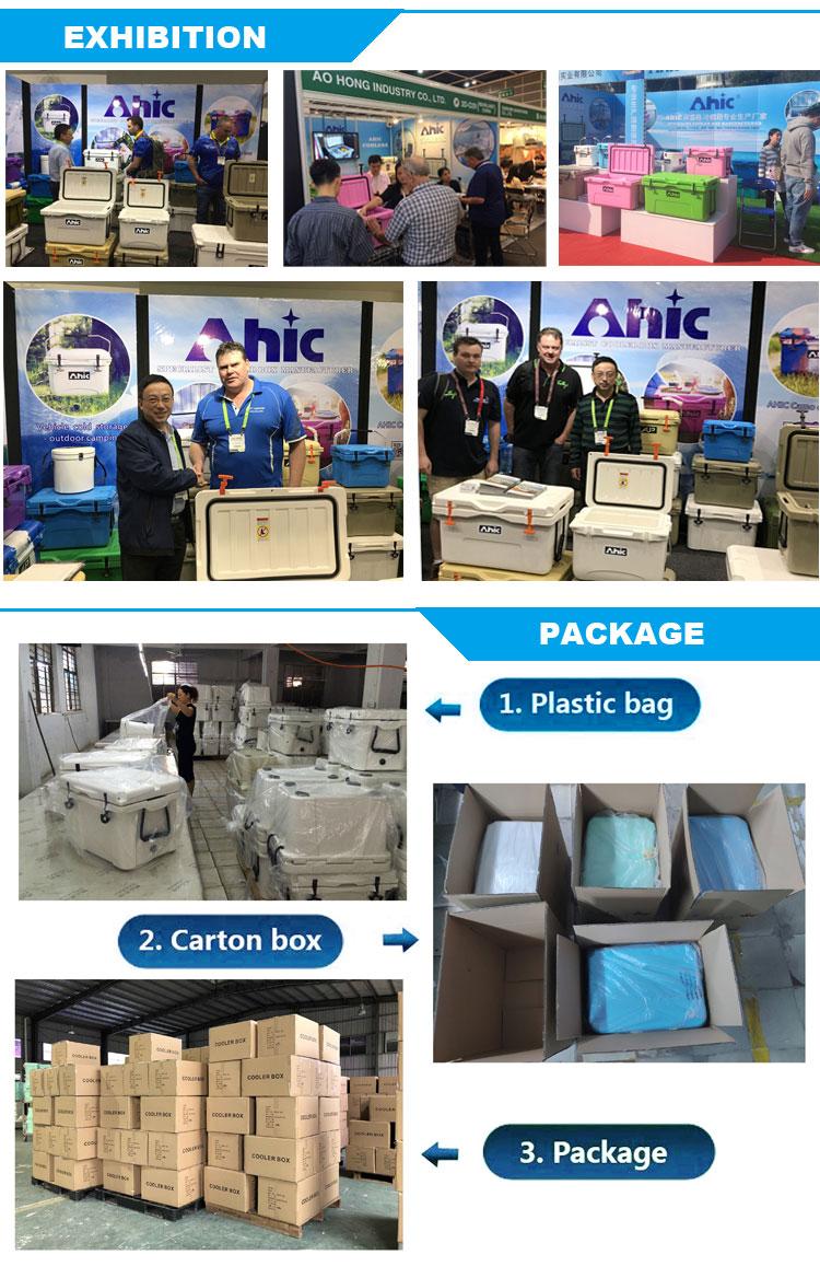 AHIC 45 Litro grande Praça de plástico cooler box/caixa de vácuo garrafa de água mais frias