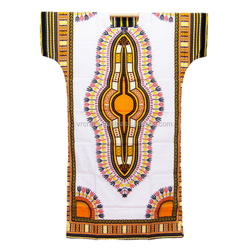 Manufacturers of African Traditional Cotton Printed African Dashiki Long Kaftan for Women