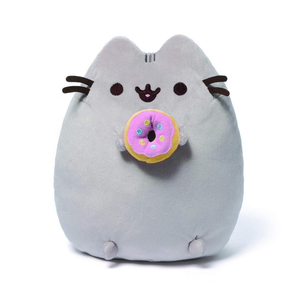 Gray Snackables Birthday Cupcake Cookie Donut Ice Cream Cone Cat Plush Stuffed <strong>Animal</strong>
