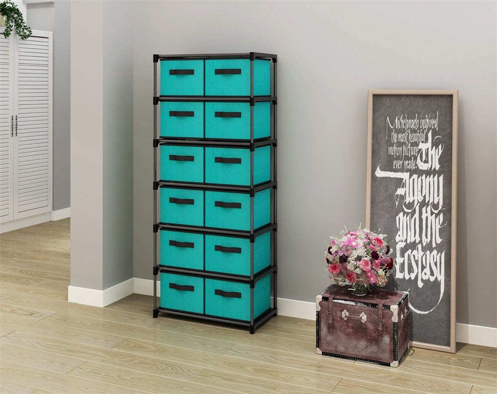 Get Quotations · MULSH 12 Drawer Storage Chest Shelf Storage Cabinet  Organizer Units With 12 Removable Non