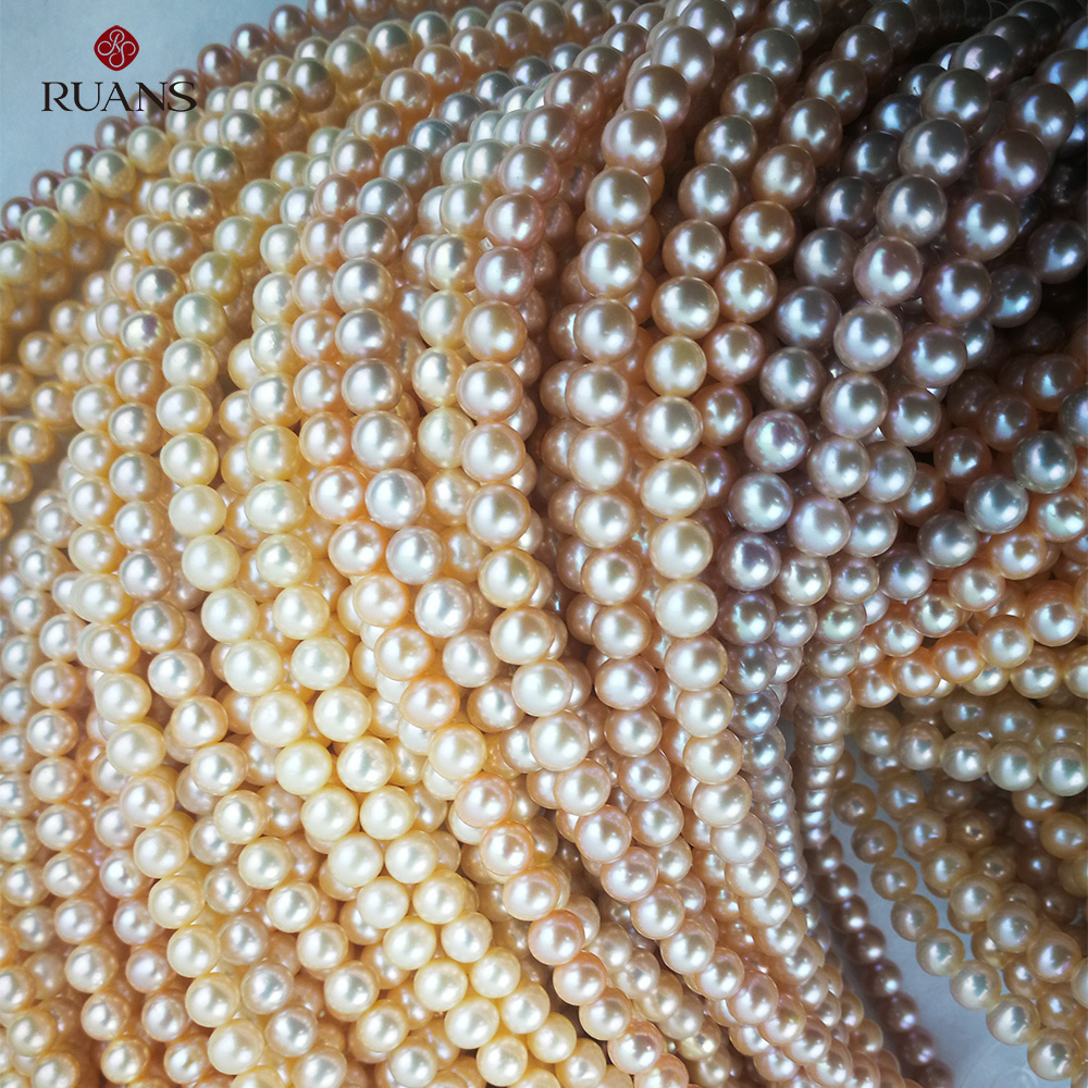 5.5-6 mm AA1 Freshwater Cultured  Pearl Natural Strands