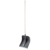 Snow shovel, 360x400 mm, with shank, PVC, aluminium edging strip