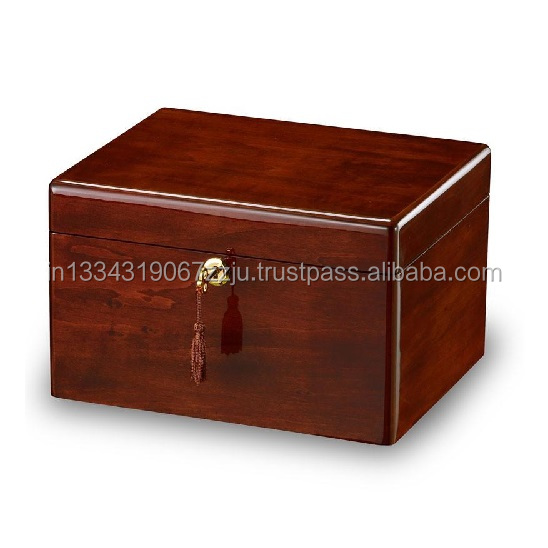 Solid Antique Memorial Cheap Engraved Wooden Casket Box for Adults Human Funeral  Ashes Cremation urns American/European Style