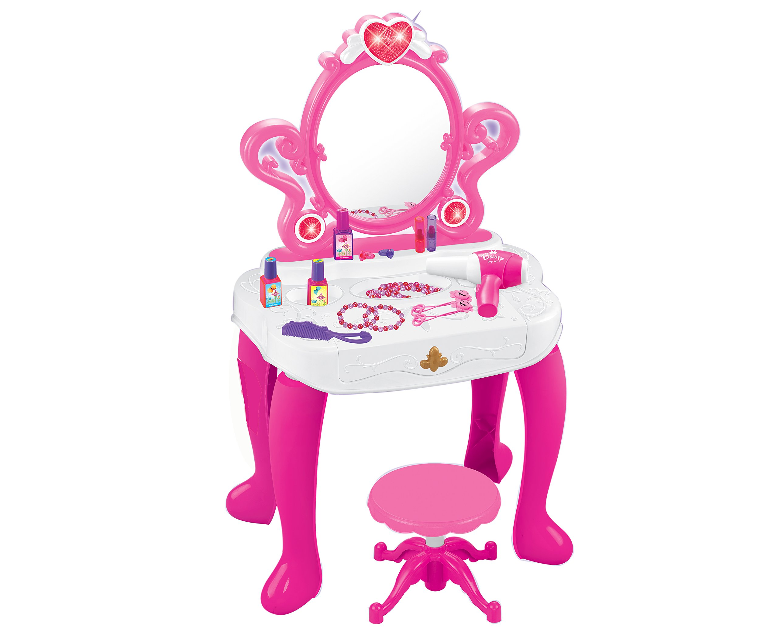 Buy Little Princess Vanity Table And Chair Pretend Play Set Child Room Furnitur In Cheap Price On Alibaba Com