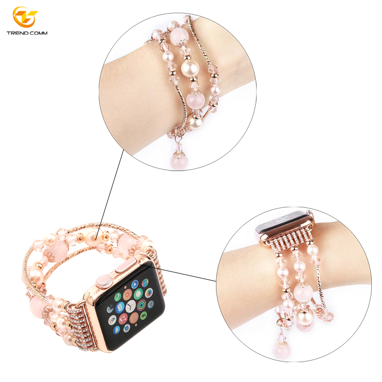 38mm Luxury Band For iWatch 5 Quick Release Smart Watch Strap