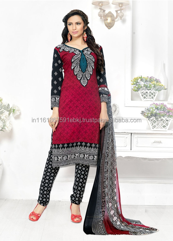 2017 Latest design Magenta Colored Leon Printed Salwar Kameez/Women Occasion Casual Party Wear Indian Ethnic Suits
