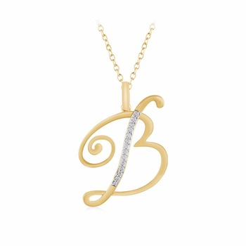 initial sterling accent com pendant dp amazon b letter silver in necklace diamond