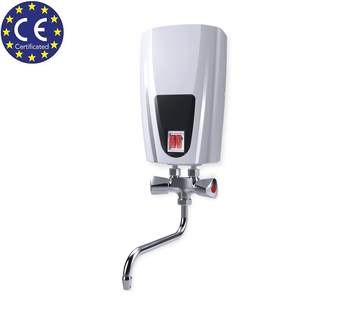 Instantaneous Water Heater >> Instant Tankless Water Heater Eldom With Metal Head Mixer Tap 6 5 Kw