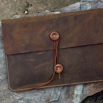 Handmade Genuine Leather Laptop Sleeve