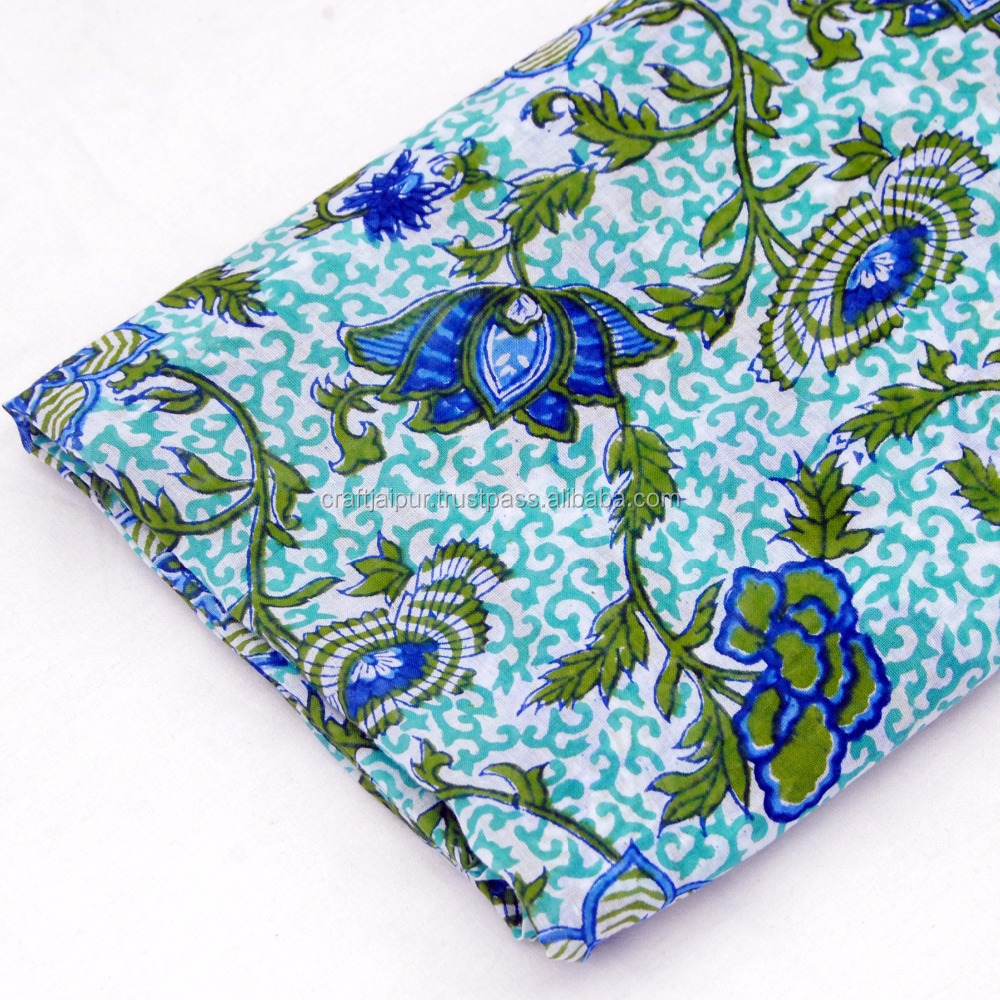 Handmade floral printed cotton running sewing craft fabric