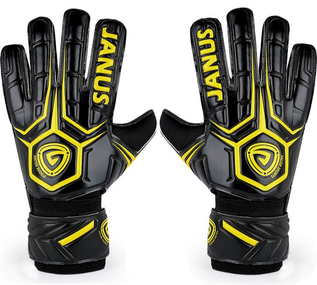 25138a335 Get Quotations · JYH Professional Adult & Youth Latex Soccer Goalkeeper  Gloves,Strong Grip Finger Protection Football Goalie