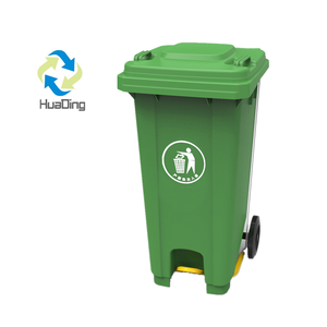 120L dustbin plastic sale price garbage containers plastic waste bin with wheels