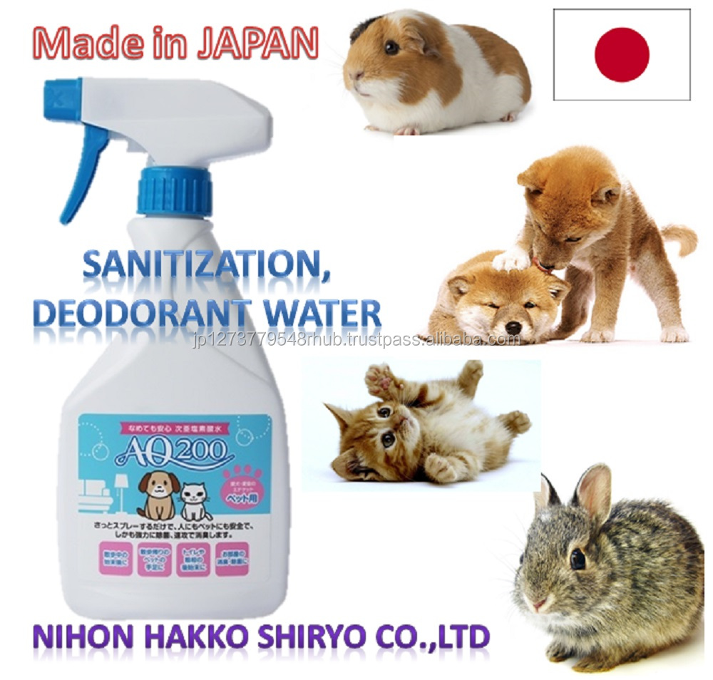 Japan-made disinfecting pet odor eliminator deodorant with low acidity