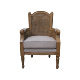 Indonesia Classic Furniture - French Shabby Rattan Living Room Chair Furniture