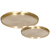 Round Tray Set of 2 - Brass