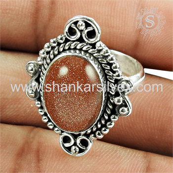 Imperious handmade silver ring red sunstone jewellery 925 sterling silver wholesale jewelry online
