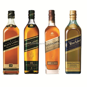 Red Label Johnnie Walker/Johnnie Walker Green Label Old Scotch Whisky/Johnnie Walker Black Label Whisky