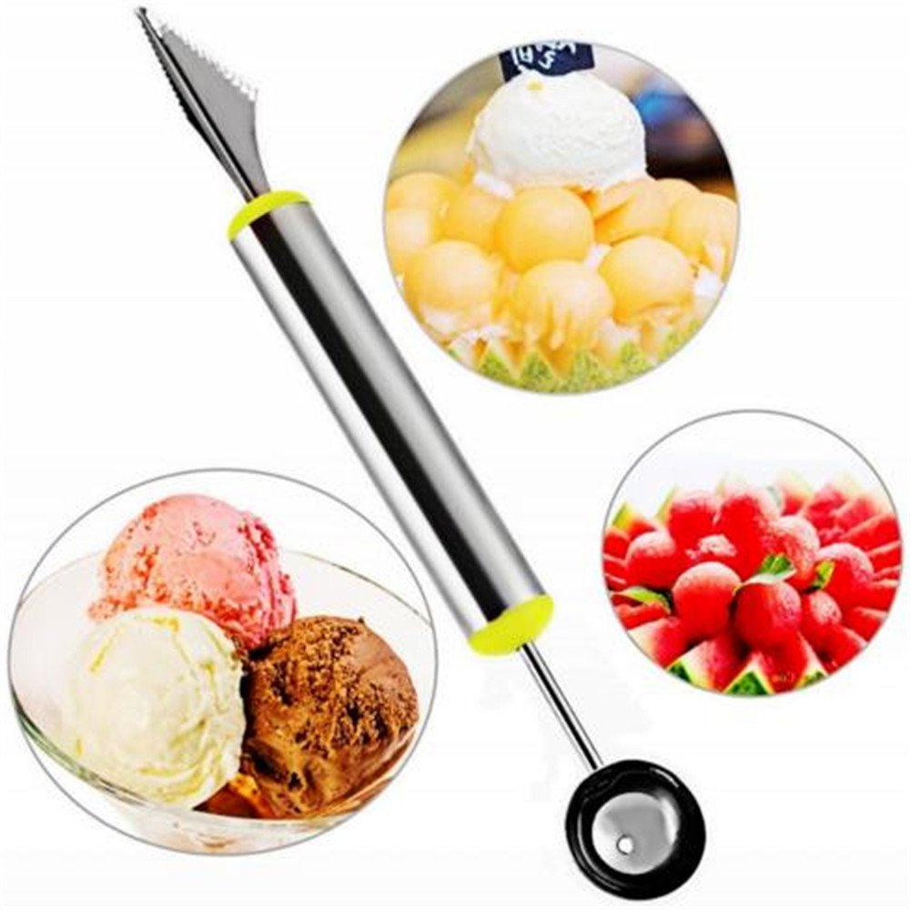 Stainless Steel Dual End Melon Baller Fruit Carving Knife Scoop Carving Tool