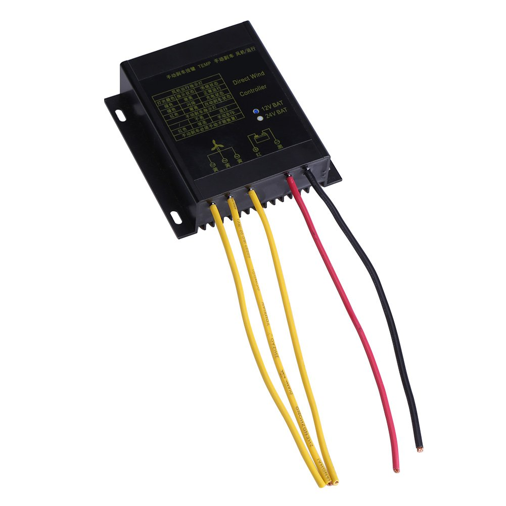 Wind Charge Controller for Wind Turbine Generator 400W Waterproof 12V 24V Wind Turbine Generator Charge Controller (12v)