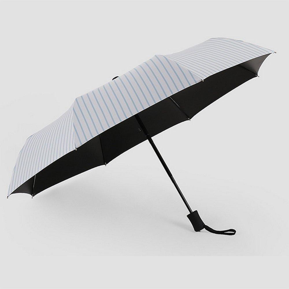 JSHEBN Automatic umbrella three folding men and women vinyl stripes automatic umbrella gift box