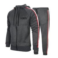 OEM&ODM Jogging Custom High Quality Sweat Absorbing Top Design Muscle Fit Tracksuit ,custom logo Tracksuit