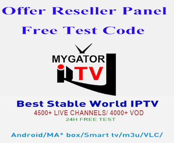 Best World Iptv Subscription Mygatortv Iptv Reseller Panel French Arabic  Europe Us And Many More With Free 24h Test - Buy Iptv Subscription,Iptv