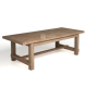 farmhouse garden table teak patio furniture