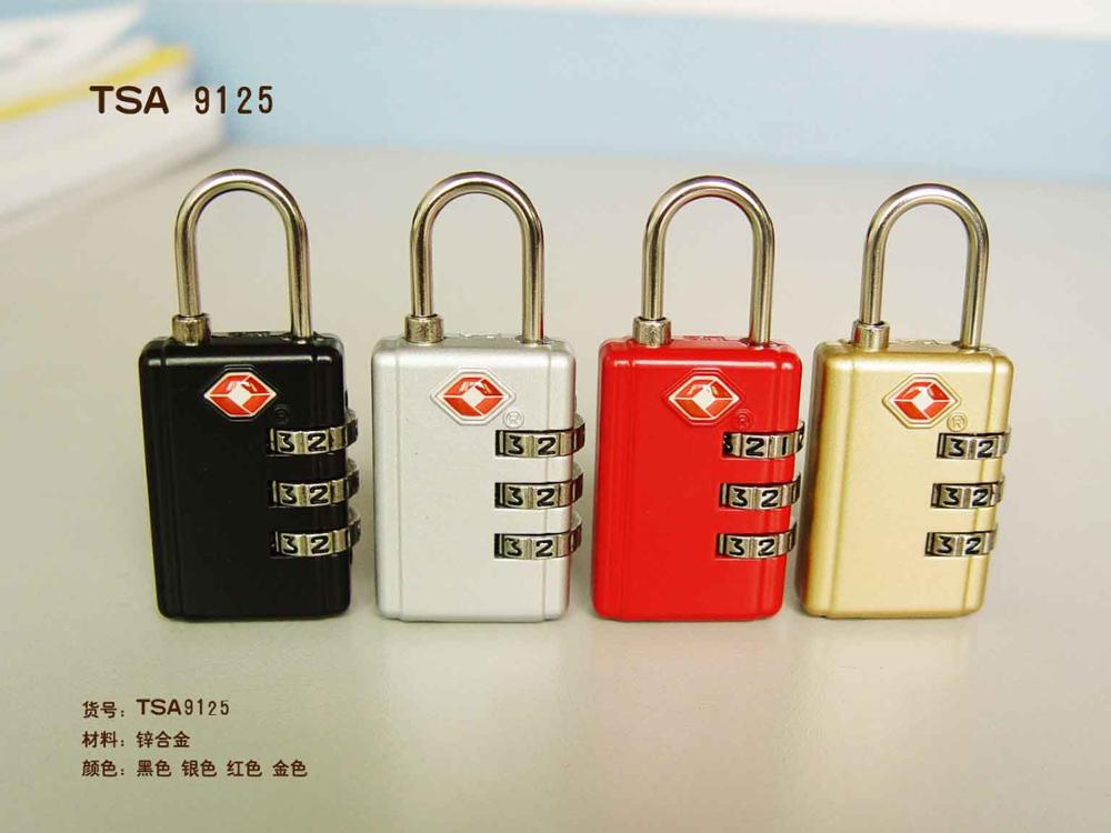 3- Dial Combination Travel Lock/ Approved TSA Luggage Padlock
