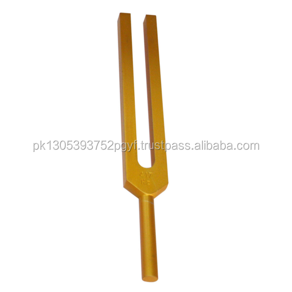 528 Hz Golden Colored Tuning Fork for Magical DNA Repair + Activator/ surgical Instruments
