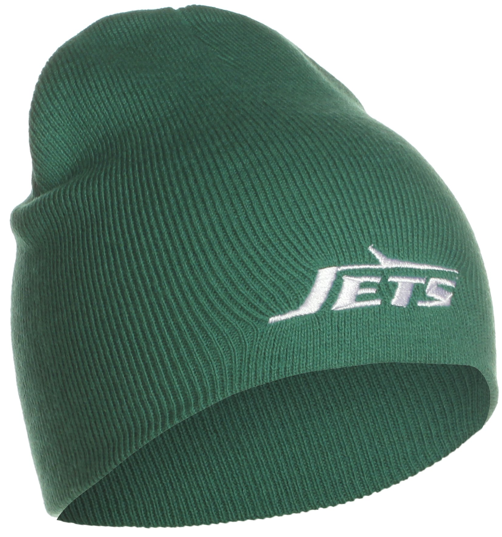 9a70db812 Get Quotations · NEW YORK JETS (GREEN) Cuffed Knit Beanie Hat   Toque-  Embroidered Team Logo