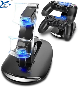 Image of Double Charge Station for Playstation 4/Sony PS4 Controller Charger Stand Charging Dock for Sony Playstation 4/PS4 Controllers