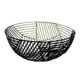 Matt Black Round Iron Metal Wire Fruit Baskets