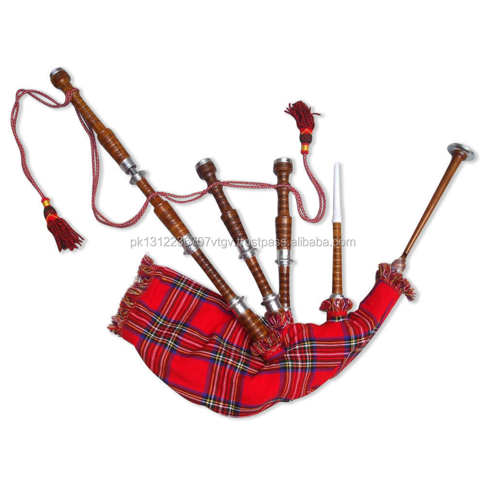Other Musical Instrument Equip Hearty New Scottish Highland Bagpipe Rose Wood Natural Chrome Finish/dudelsack/gaita Folk & World