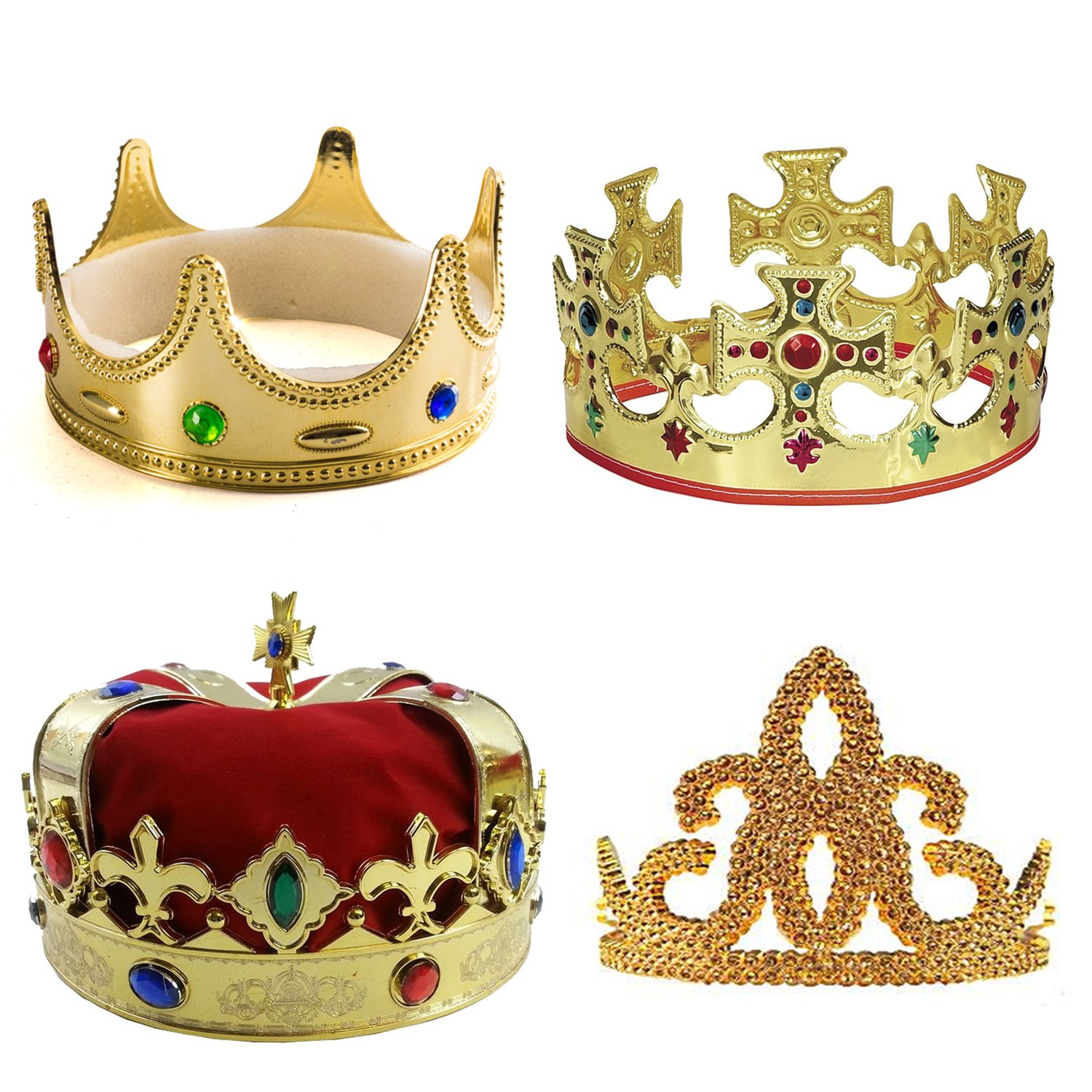 Playo Gold Foil Crowns Pack of 12 Gold King Crowns Perfect for King Costume accessories