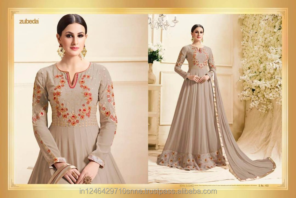 latest pakistani lehanga &kameez ghagra suit heavy rose net print bridal wear