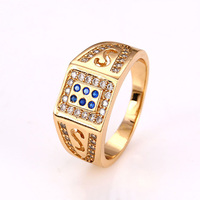12617 Xuping Fashion18k gold plated fashion mens jewellery, ring classical men ring anniversary wedding jewelry ring