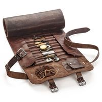 Perfect Gift Genuine Leather Tool Bag Chef Knife Roll Up Bag
