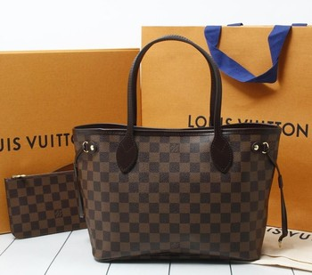 Used brand Handbag LOUIS VUITTON m41359 Neverfull PM Damier Ebene Totebags  for bulk sale. 3b0a16a4bef