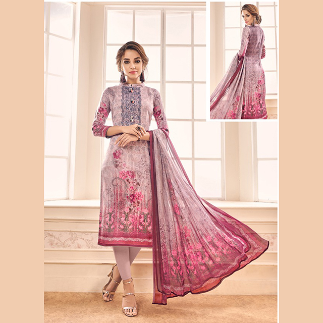 Digital Printed New Winter Special Pashmina Churidar Suits