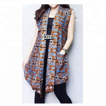 #SuperSeptember Wholesale Fashion Ladies Vest Batik Shirts Dress From Indonesia