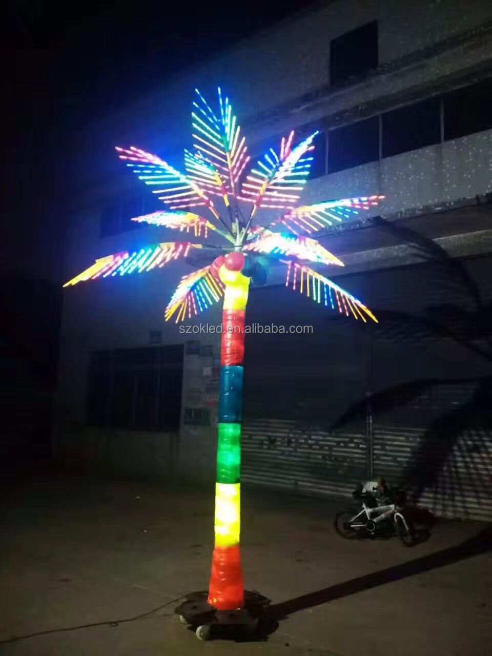 Hot Sale 3m Realistic Artificial Outdoor Lighted Led Palm
