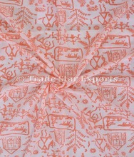 Sanganeri Running Tribal Hand Block Print Cotton Fabric For Dress Making Indian Ethnic Upholstery Material for Home Decor Art