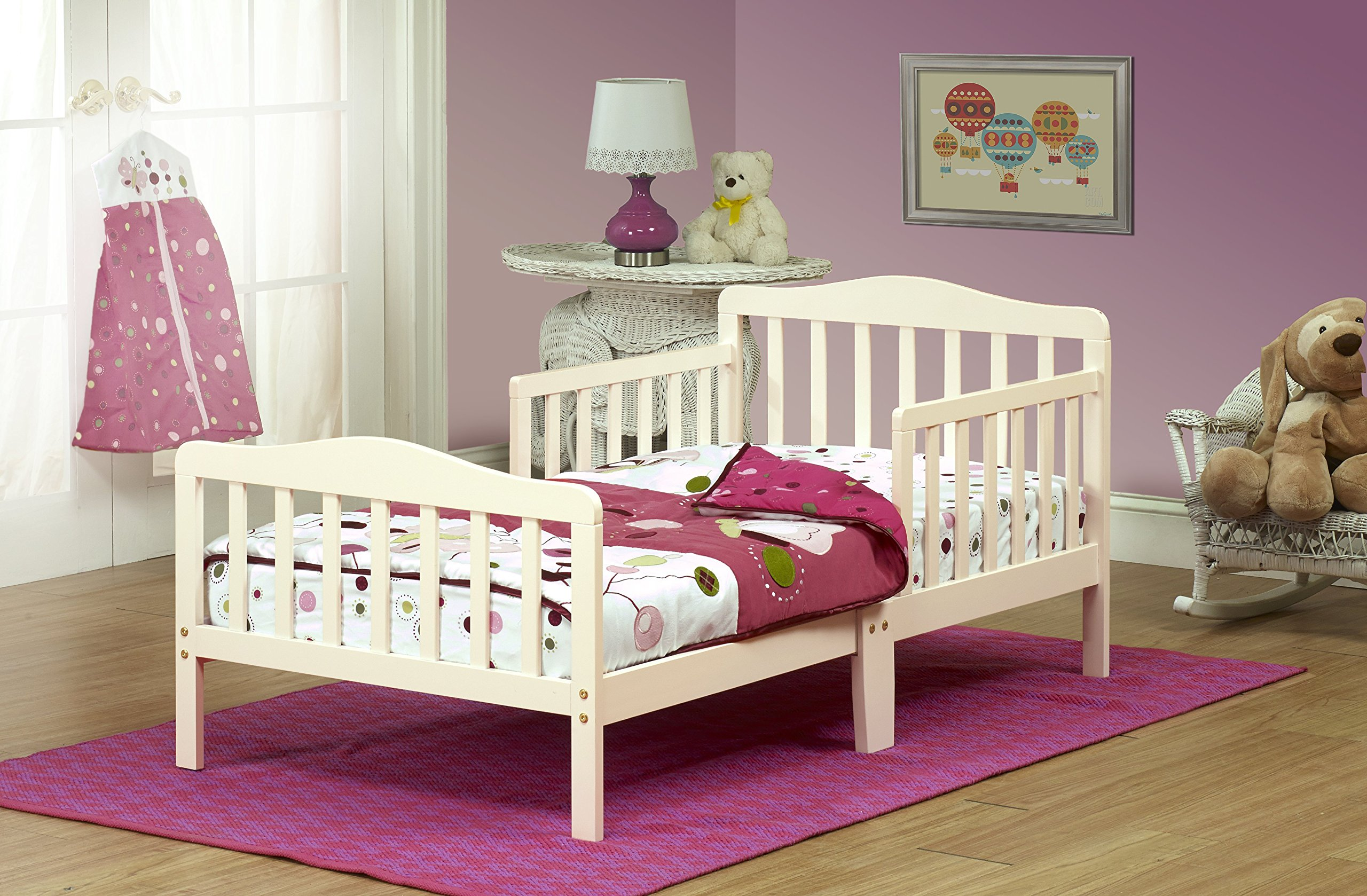 Orbelle Contemporary Toddler Bed, French White