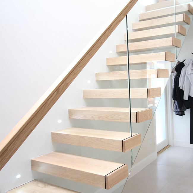 Outdoor Floating Stairs Florida Project: Outdoor / Exterior Floating Stairs Wooden Box Tread