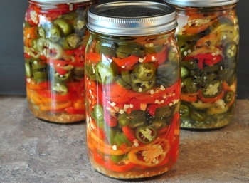Canned Pickled Jalapeno Rings