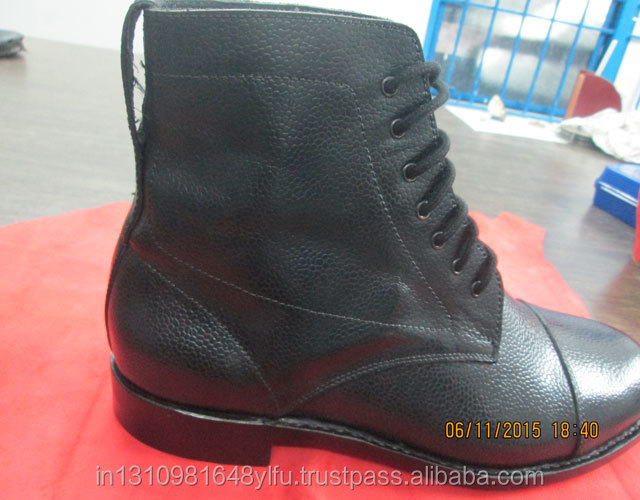 goodyear safety with Men's sole toecap shoes leather and black steel steel welted plate fww5qxTBOH