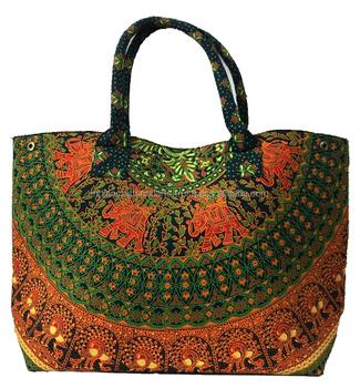 12a109f29 Mandala indio chicas bolso Boho Hippie bolsa de Universidad hombro bohemio  hecho a mano algodón bolsas