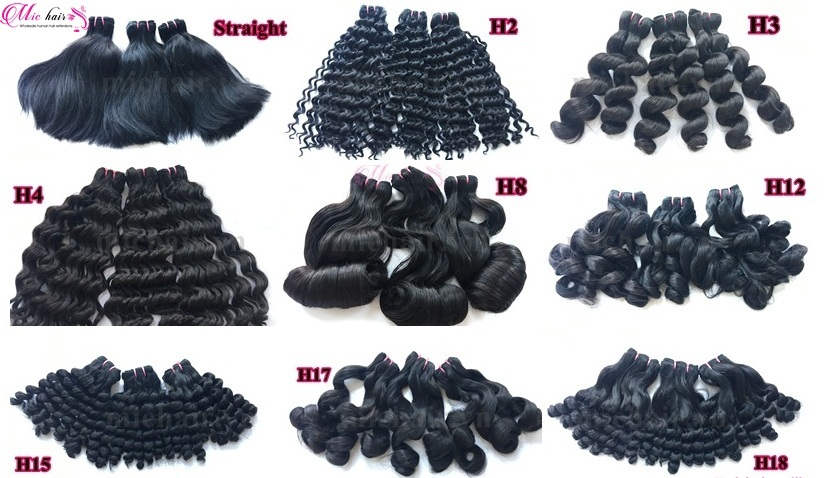 Non transformés Vierge Cheveux Funmi Cheveux Gonflables Faisceaux Chaud Tendance Extension de Cheveux De Perruques