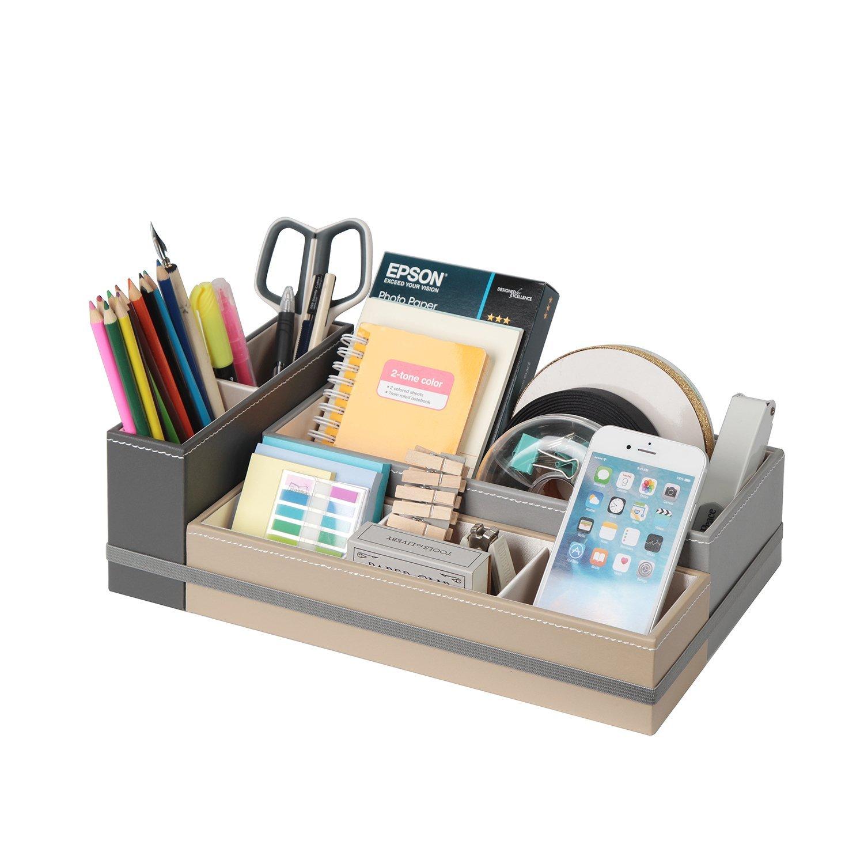 JackCubeDesign Desk Supplies Organizer Caddy Desk Stationery Holder (Black, Grey, Beige)-:MK293A